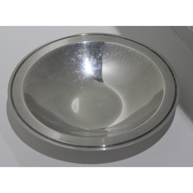 Mid-Century Modern Silver Plated 1950s Embossed Edge Bowl or Dish by Wmf Ikora Germany For Sale - Image 3 of 12