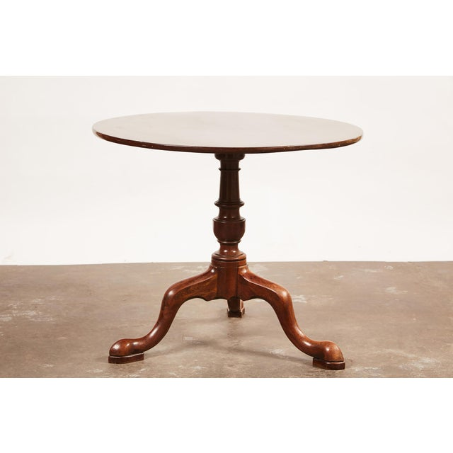 Mahogany 19th Century Queen Anne English Mahogany Pedestal Table For Sale - Image 7 of 7