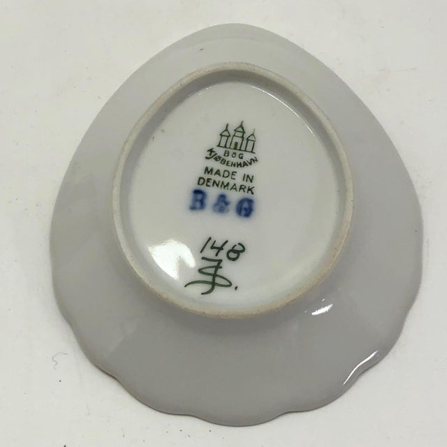 Bing & Grondahl Denmark Porcelain Ashtray and Cigarette Holder With Blossom on Branch - a Pair For Sale - Image 11 of 13