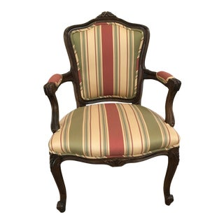 1980s Vintage French Upholstered Corner Chair For Sale