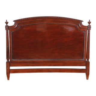 Karges Carved Mahogany Queen Size Headboard For Sale