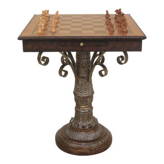 Square Checker Chess Occasional Games Table For Sale