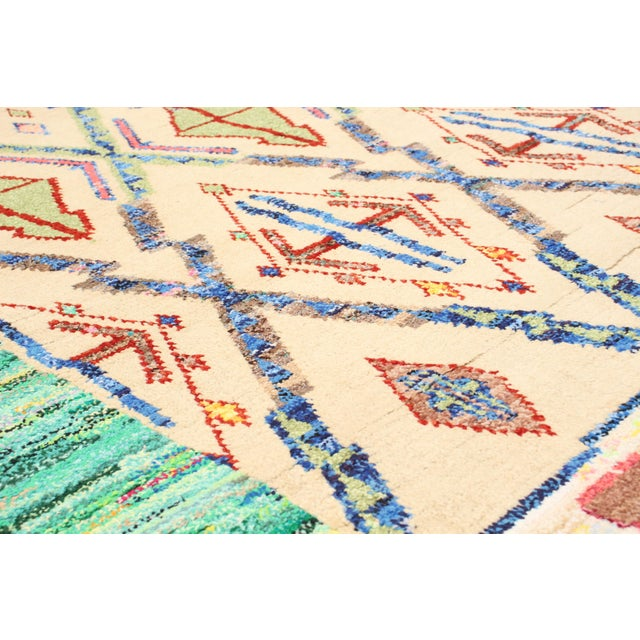 """Textile Moroccan Style Hand-Knotted Rug-8'10"""" X 12'6"""" For Sale - Image 7 of 9"""