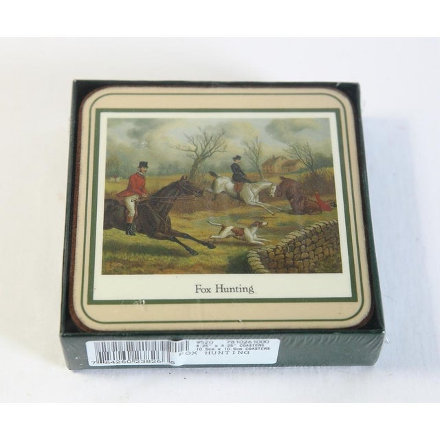 Fox Hunting Equestrian Coasters and Tray Set For Sale - Image 6 of 9