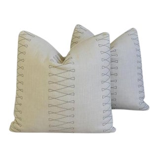 "Old World Weavers Cuba Libre Feather/Down Pillows 20"" Square- Pair"