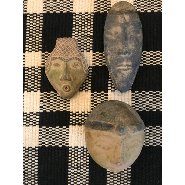 Set of 3 vintage decorative heads, ready for your imagination! I imagined them framed in a shadow box on the wall. The...