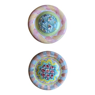 MacKenize and Childs Ceramic Knobs - a Pair For Sale