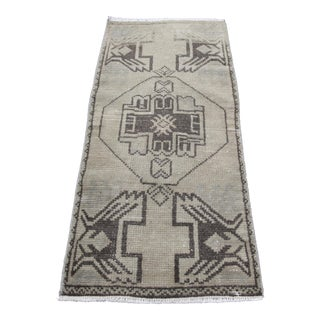 Vintage Turkish Wool Rug - 1′5″ × 3′1″