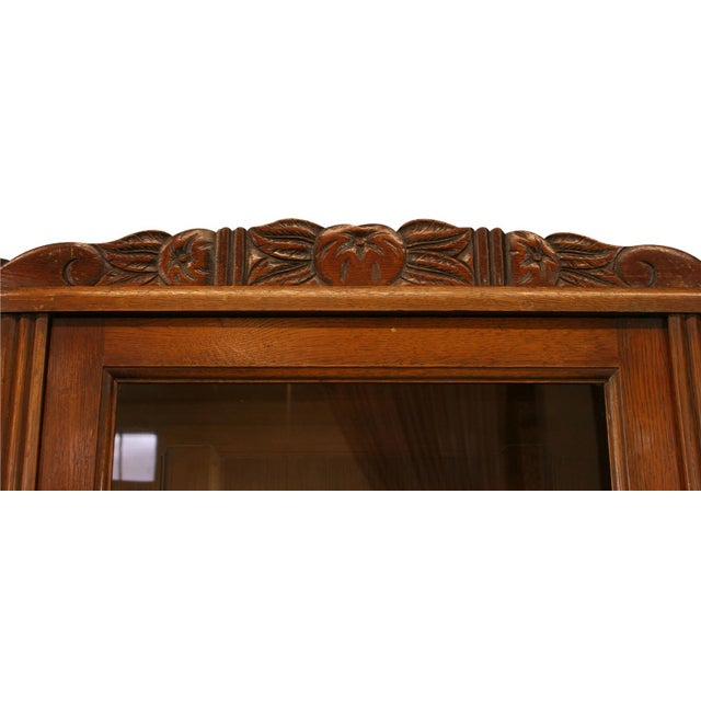 1920 French Art Deco Carved Oak Buffet - Image 5 of 8