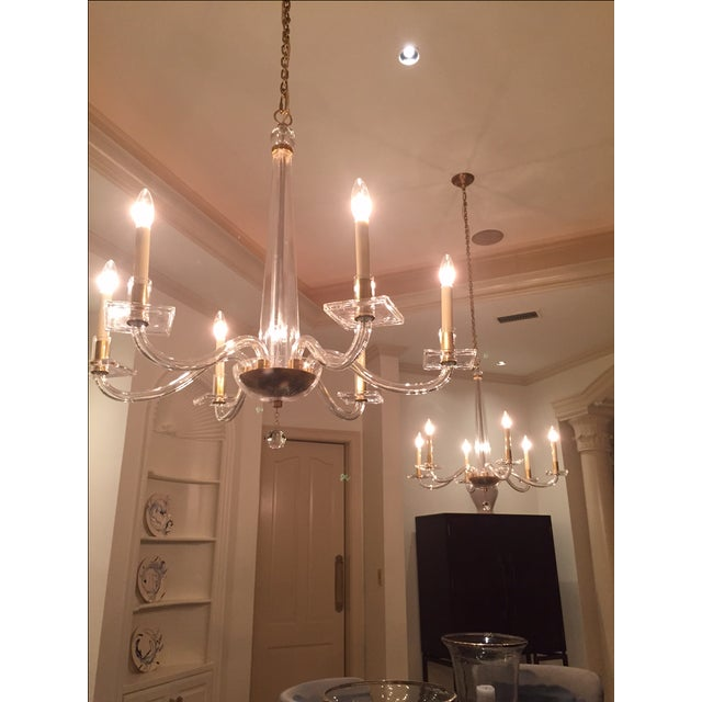 E. F. Chapman Robinson Brass Chandeliers - Image 3 of 4