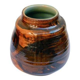 Fish Motif Glazed Pottery by Noted Artist Odile Frachet For Sale
