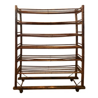 Antique Wood French Country Baker's Rack For Sale