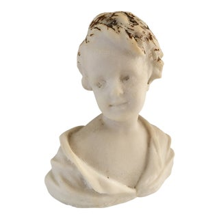 Vintage Marble Bust of Child For Sale