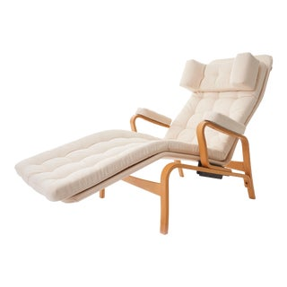1970's 'Fenix' by Sam Larsson for Dux Reclining Bentwood Lounge Chair For Sale