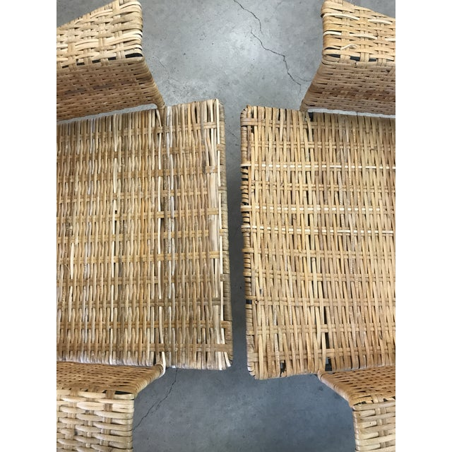 Van Keppel Green Rattan & Iron Chairs - A Pair - Image 10 of 11