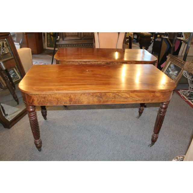 Early 20th Century 20th Century Art Nouveau Console Tables - a Pair For Sale - Image 5 of 6