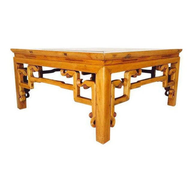 Vintage 1940s Tibetan/Chinese Elm Coffee Table For Sale - Image 13 of 13