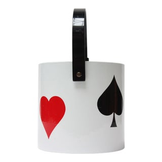 Vintage Playing Cards Ice Bucket For Sale