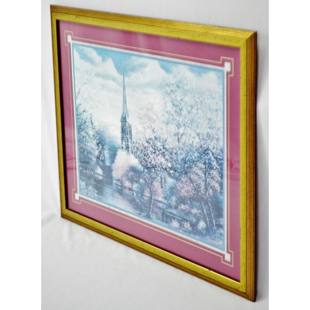 Vintage Framed Sambataro Church Steeple Print Condition consistent with age and history. Please use zoom feature to check...