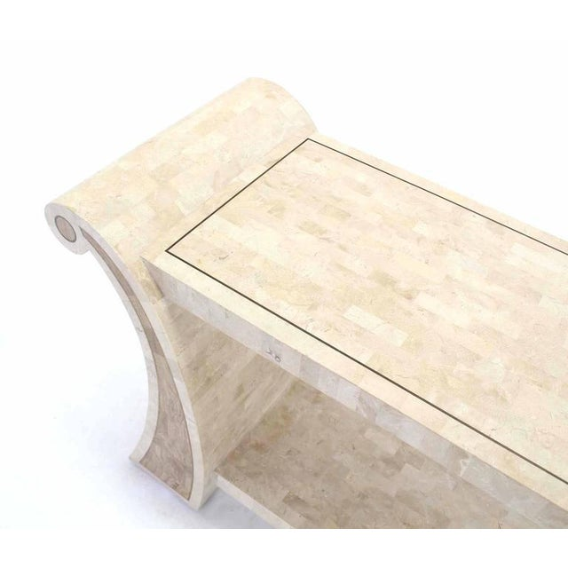 Maitland Smith Tessellated Stone Veneer Console Table For Sale In New York - Image 6 of 7