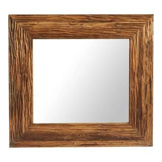 Deep Grain Wood Mirror For Sale