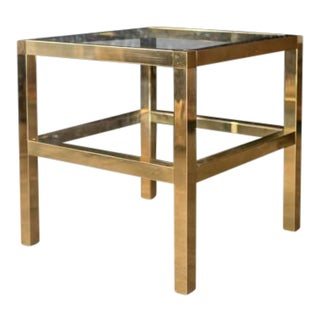 Mastercraft Two Tiered Brass Side Table For Sale