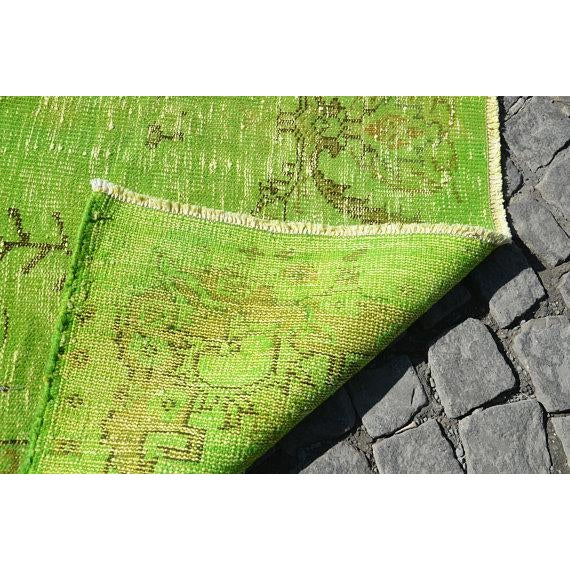 Vintage Green Overdyed Rug - 5′1″ × 8′1″ - Image 6 of 6
