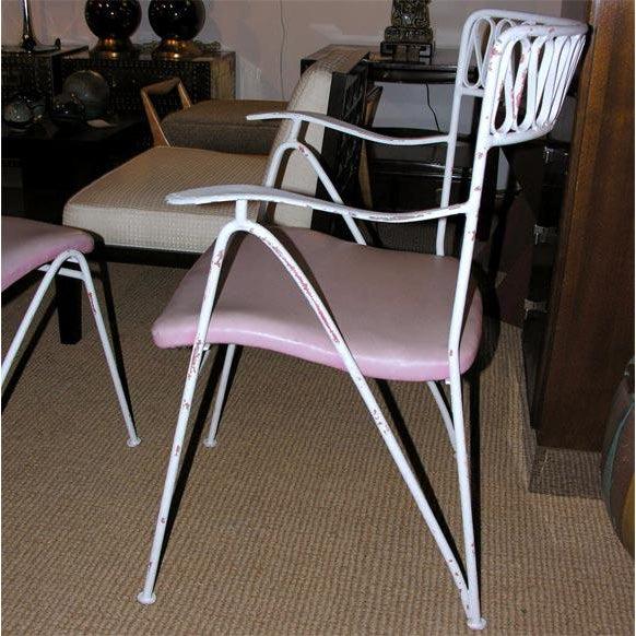 John Salterini Tempestini for Salterini Wrought Iron Ribbon Chairs - Set of 14 For Sale - Image 4 of 10