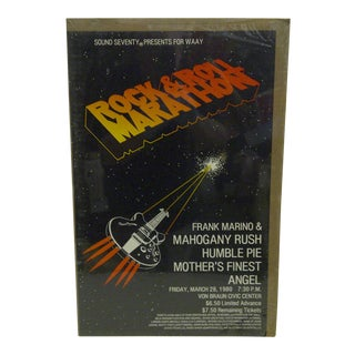 1980 Rock-N-Roll Marathon Von Braun Civic Center Poster For Sale