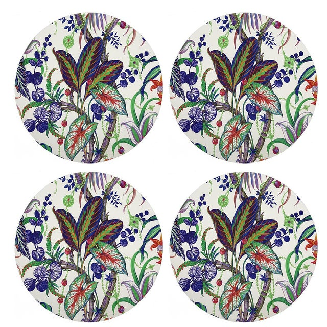 """Contemporary Amazonia Classic, 16"""" Round Pebble Placemats, Set of 4 For Sale - Image 3 of 3"""