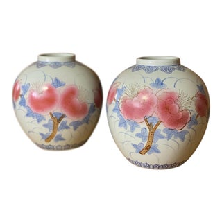Chinoiserie Vases - Set of 2 For Sale