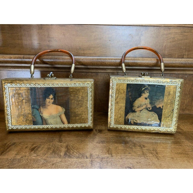 Gold Decor Wall Hanging Victorian Boxes - a Pair For Sale - Image 12 of 12