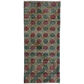 Vintage Mid-Century Zeki Muren Turkish Sivas Runner Rug - 2′9″ × 6′2″ For Sale