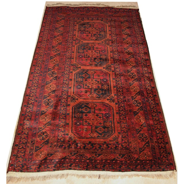 Semi-Antique Ersari Turkmen Rug - 4′ × 6′ - Image 2 of 4