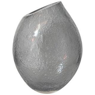 Italian Alberto Dona Murano Glass Pulegoso Vase Sculpture For Sale