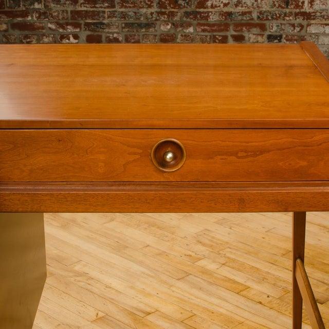 Drexel Mid-Century Walnut Desk With Side Extension Designed by John Van Koert for Drexel For Sale - Image 4 of 13