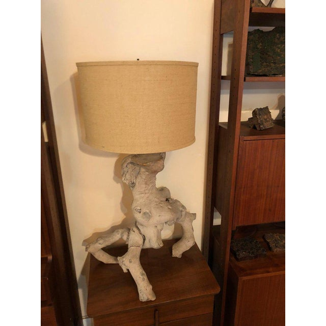 1960s Vintage Driftwood Lamp For Sale - Image 4 of 13