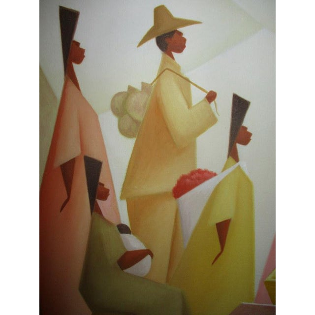 1980s Vintage Latin American Figural Painting by Avelino Rocha For Sale - Image 5 of 8