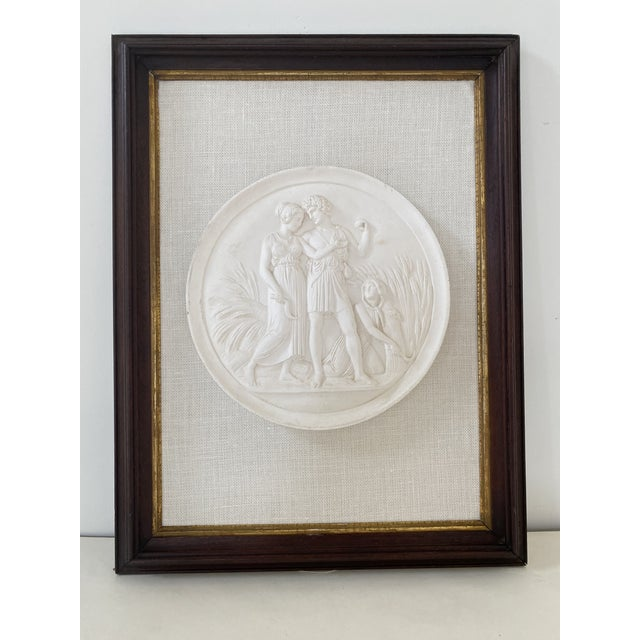 Plaster Intaglios Medallion Plaque For Sale - Image 9 of 9