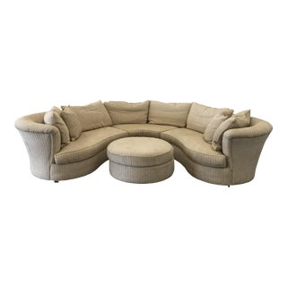 Henredon 3 Pc Sectional & Ottoman