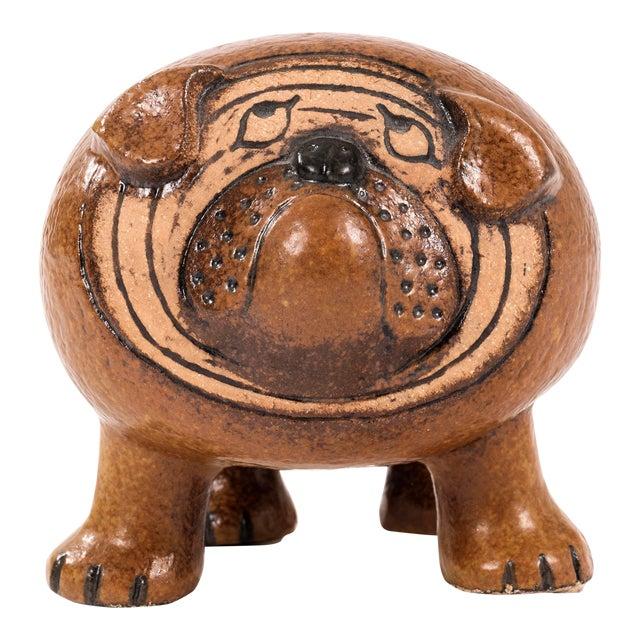 Lisa Larson Bulldog Sculpture For Sale