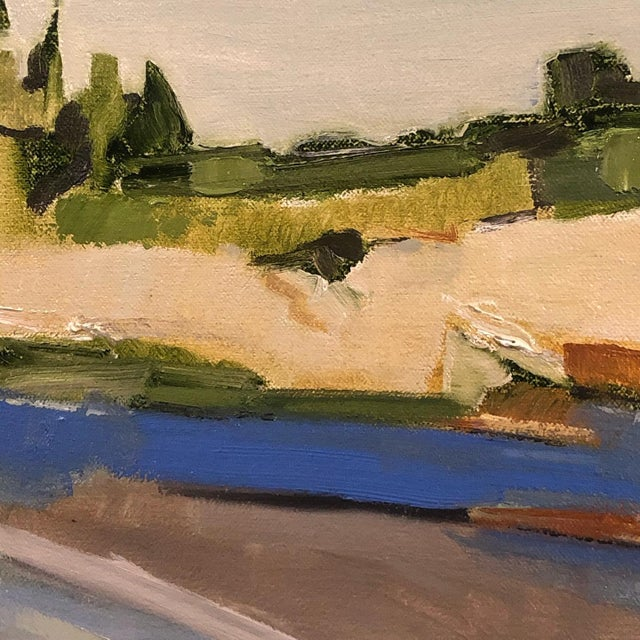"""Contemporary """"North Shore"""" Contemporary Abstract Landscape Oil Painting by Ann Keane For Sale - Image 3 of 6"""