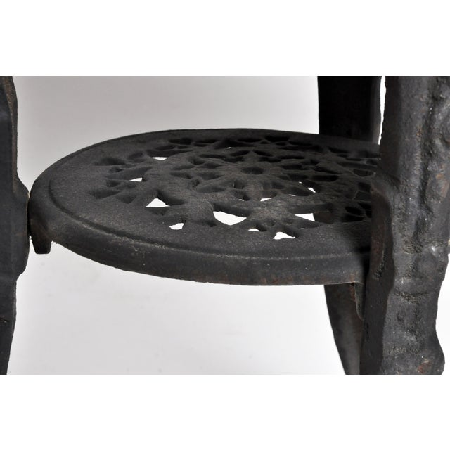 Round Table with Iron Legs and Marble Top - Image 11 of 11