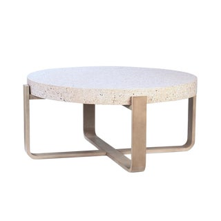 Ivory Terrazzo & Wood Coffee Table