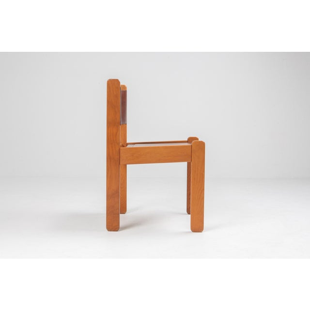 Mid-Century Modern Oak & Leather Dining Chairs For Sale - Image 3 of 12