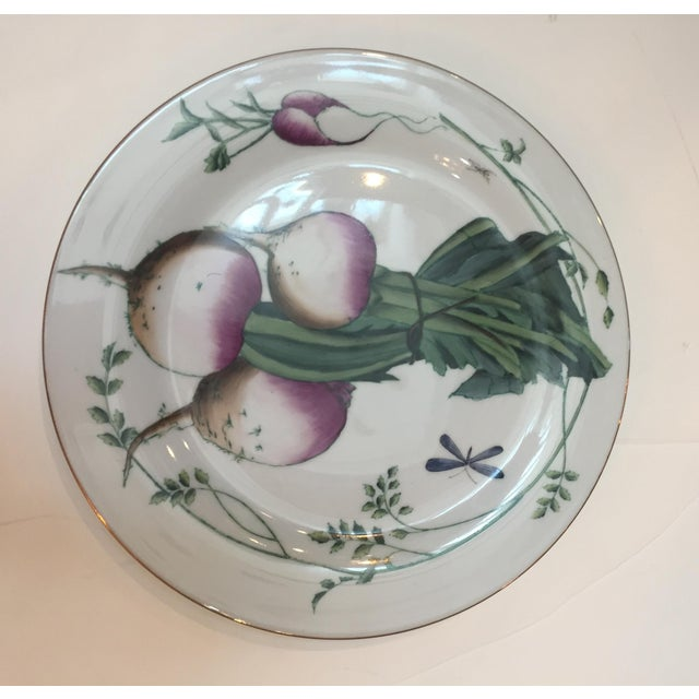 Traditional Chelsea House Gold Rim Vegetable Plates - Set of 6 For Sale - Image 3 of 10