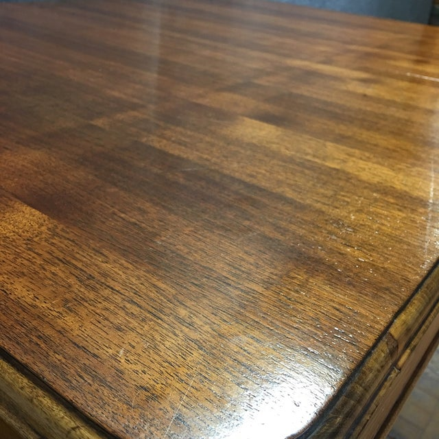 Walnut Art Deco Dining Table With Leaves - Image 6 of 9