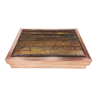 1960s Asian Style Handmade Copper Dresser Box For Sale