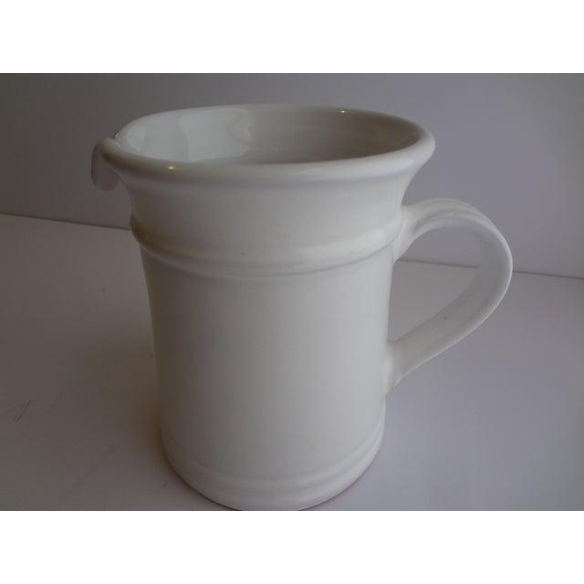Contemporary Goldsmith Glazed White Ceramic Pitcher For Sale - Image 3 of 6