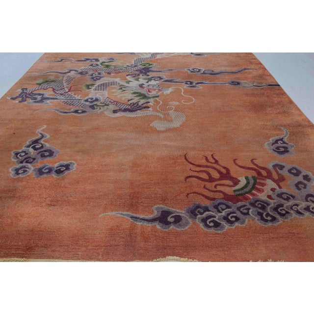 Asian Antique Silk Chinese Rug For Sale - Image 3 of 7